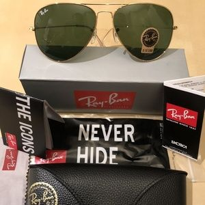 Ray Ban Aviator Classic RB3025 Green / Gold
